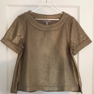 Banana Republic Gold Top